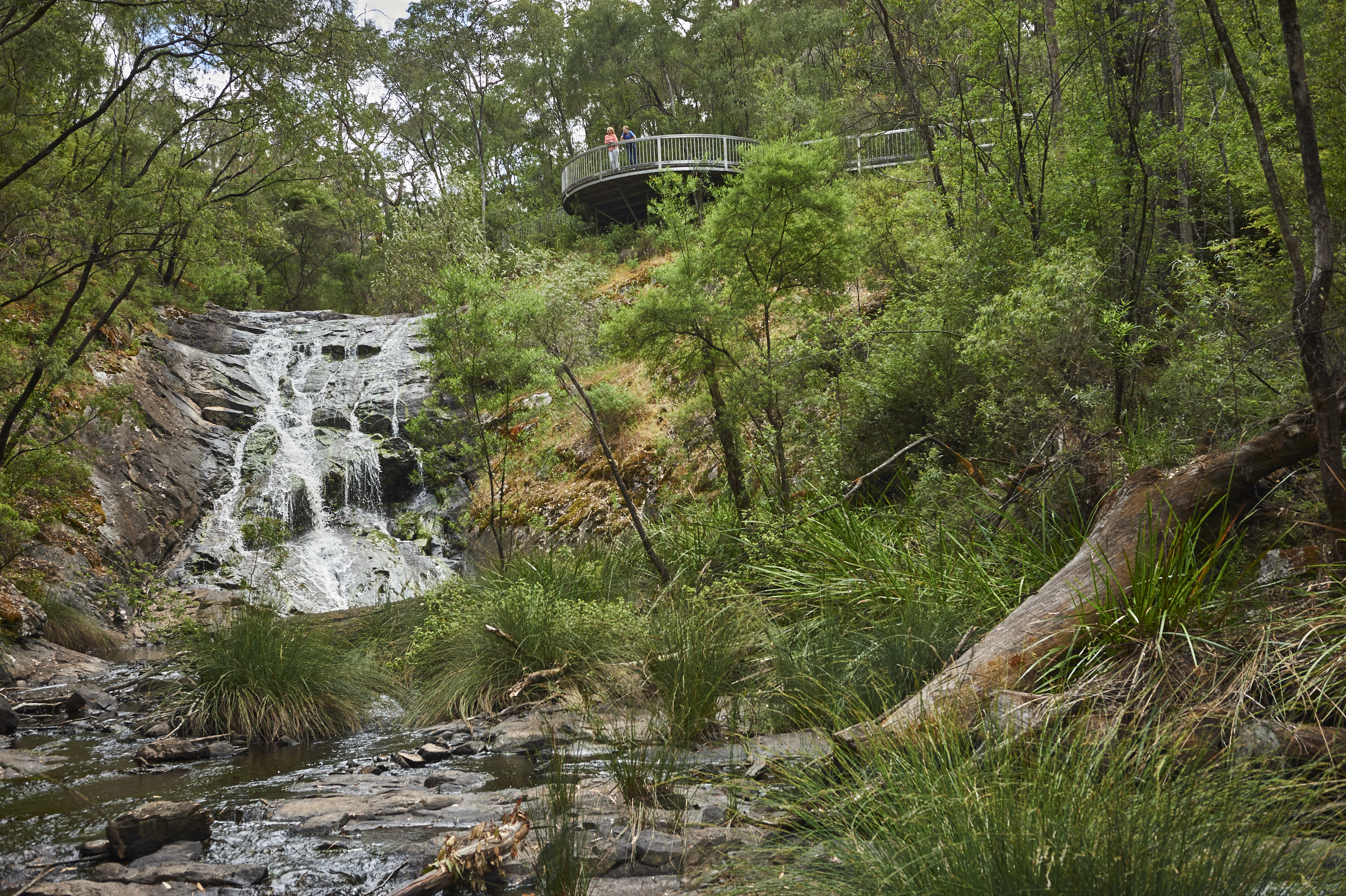 A landscape image of a waterfall to show what winter is like in Western Australia's South West