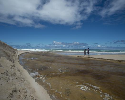 Mouth of the Warren River where it meets the Southern Ocean in the D'Entrecasteaux National Park