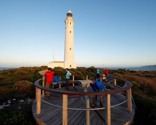 Cape Leeuwin lighthouse view from the ground viewing platform