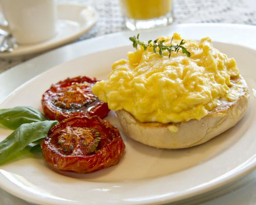 Rosewood Guesthouse Tomato & Eggs Breakfast