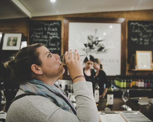 Girl Wine Tasting in Margaret River