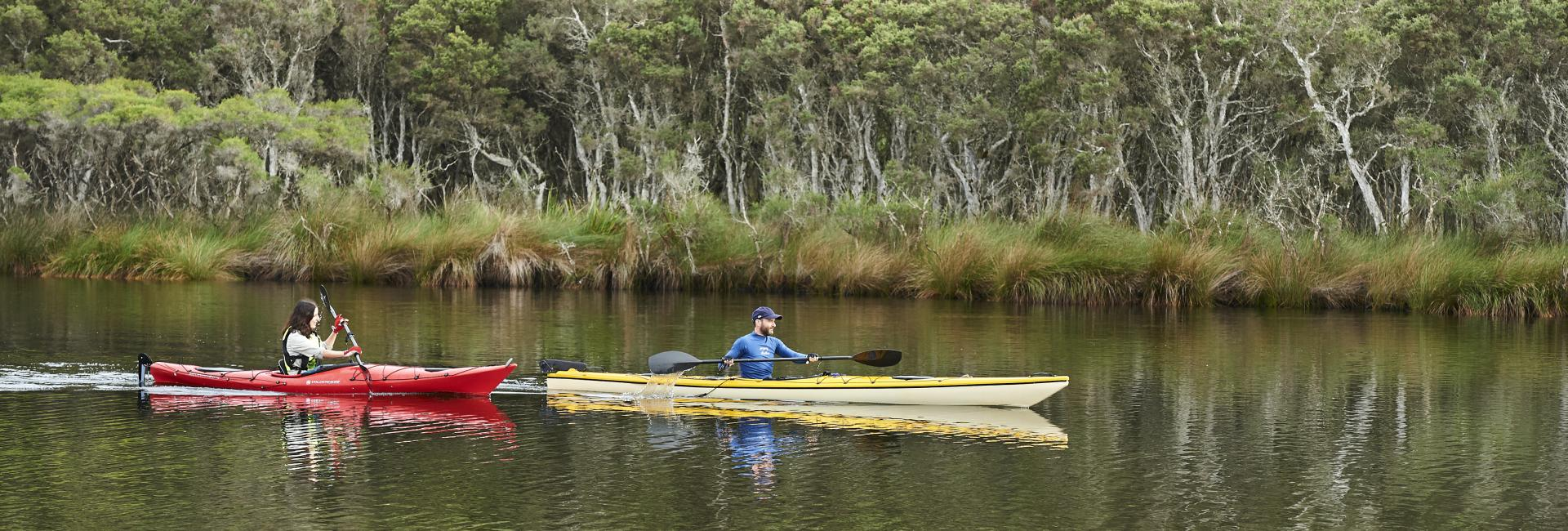 Canoeing on Blackwood River in Australias South West